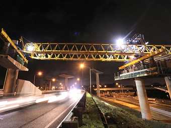Waterview's aerial extension reaches over Northwestern Motorway