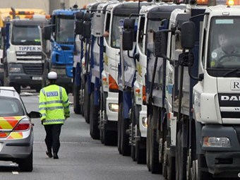 TRUCKING COMPANIES TO TAKE TO THE ROAD IN PROTEST