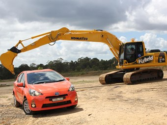 Komatsu's Hybrid excavator goes head-to head with Toyota's Prius