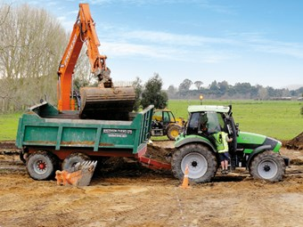 Diggers and drainage: Rogerson Farms Ltd