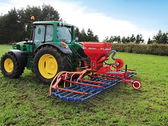 Hatzenbichler 6m tine harrow/air seeder