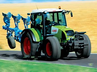 First Claas tractors