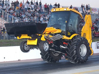 World's fastest backhoe to set speed record in Australia