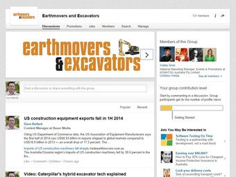 Join the Earthmovers and Excavators LinkedIn group