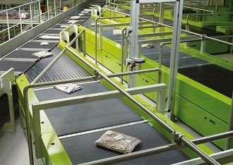 Beumer unveils new belt tray sorter at CeMAT 2014