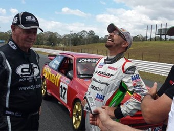 Dick Johnson & John Bowe at Lakeside Raceway