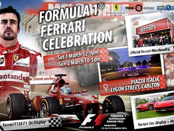 Formula 1 Ferrari Celebration in Melbourne