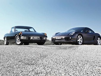 Porsche 914 v Cayman S review