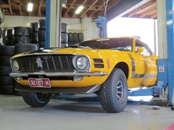 1970 Mustang Boss 302: Our shed