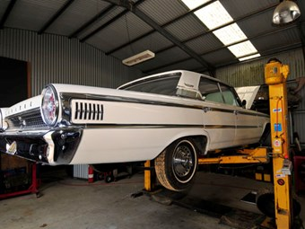 Ford Galaxie brake upgrade: Our shed