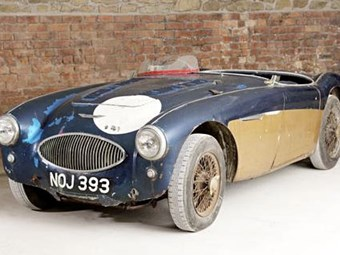 1953 Austin Healey '100' special test car fetches over a million