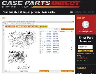 Case parts available 24-7 through new online shop