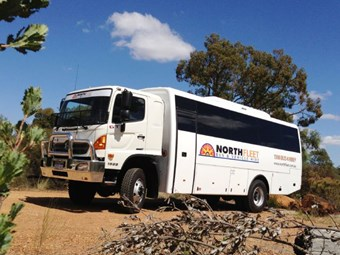 Coachbuilder Converts Hino 500 into Off-Road Bus