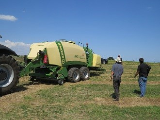 Krone showcases Big Pack high speed baler at Roadshow