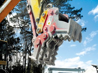 A-Ward concrete crusher-pulveriser attachment