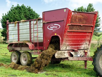 Giltrap RF11 side feed silage wagon