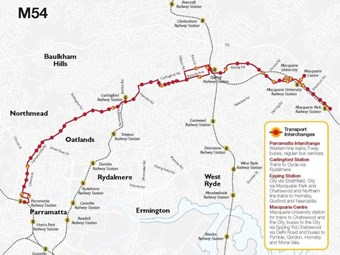Next red bus takes path to Parramatta