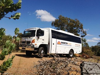 Coach builder converts Hino 500 into off-road bus