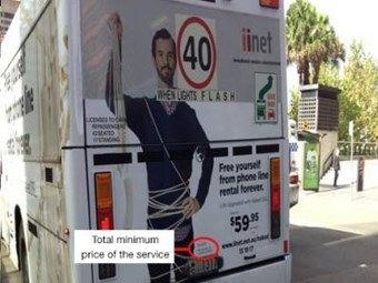iiNet fined for naked service ad on Sydney bus
