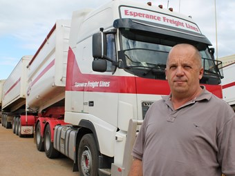 WA grain truck movements boom