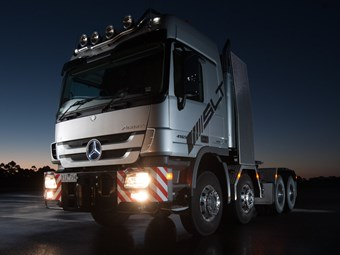 McAleese goes for gold with Actros SLT 8x8s