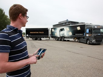 ZF Innovation Truck allows manoeuvring via tablet app