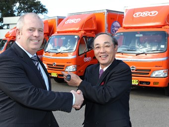 TNT takes delivery of 30th Hino hybrid truck