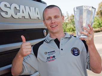 Lockwood named truck driver of the year