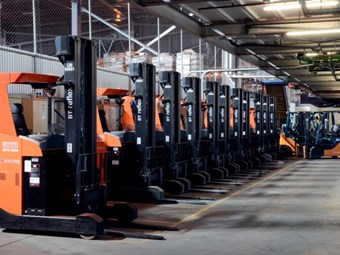 SPAR DC rolls over Toyota forklift contract