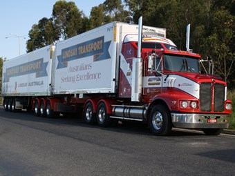 Lindsay Transport truckie named driver of the year