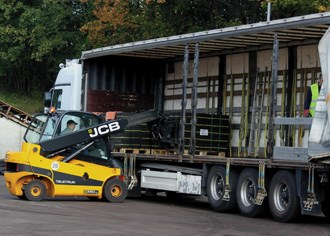 Teletruck features strength of telehandler and body of forklift
