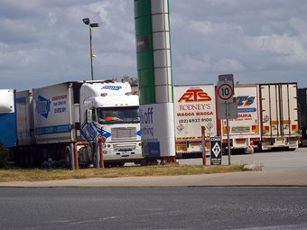 Truck stop rage over parking limits
