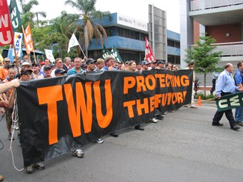 CFMEU muscles in on TWU's turf