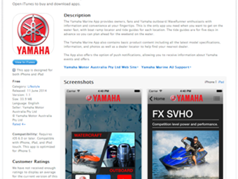 YAMAHA LAUNCHES FREE MARINE APP