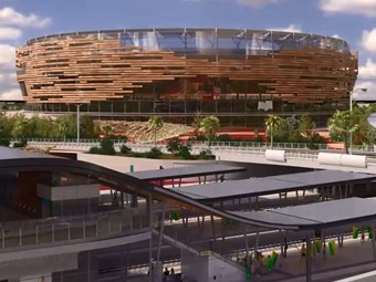 VIDEO: Perth Stadium Station