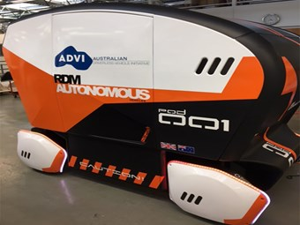 Driverless pod arrives in Aus