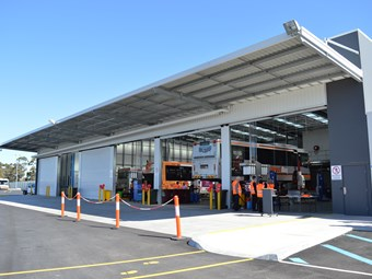 New Melbourne bus depot
