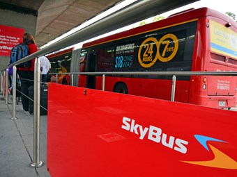 Skybus arrives at Avalon
