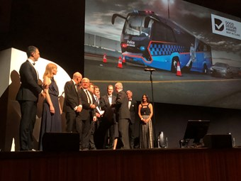 VICTORIA POLICE ADT 'BOOZE BUS' WINS MAJOR DESIGN AWARD; 10-YEAR CONTRACT SIGNED