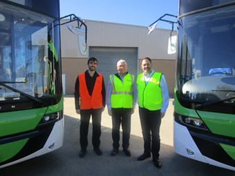 JAPAN-BOUND VOLGREN LOW-FLOOR BUS GETS MINISTERIAL INSPECTION