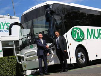 AUSTRALIA'S FIRST 'SMART' ZF TRANSMISSION DELIVERED VIA BCI BUS MURRAYS ORDER
