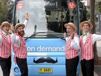 MOVEMBER CANCER CHARITY GETS SYDNEY BUS SUPPORT