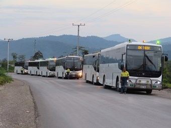 VOLGREN DELIVERS BUSES INTO TOUGH PNG CONDITIONS