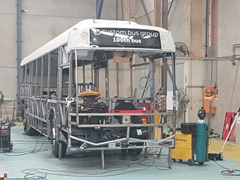 CUSTOM BUS RELEASES 100TH BUS IN-BUILD IMAGES