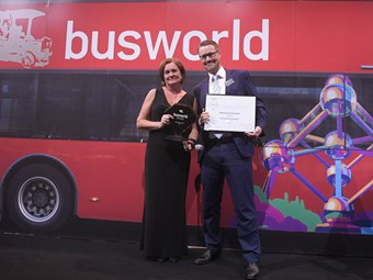 VOLVO 9900 COACH VOTED BEST AND SAFEST AT BUSWORLD, 2019