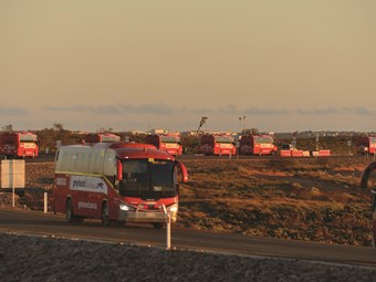 GREYHOUND 'LOCKS OUT' MINING BUS DRIVERS FOR WORK STOPPAGE