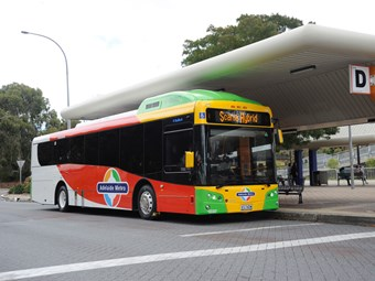 ADELAIDE O-BAHN 'GREENER' VIA SCANIA HYBRID BUS
