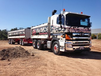 Big Hino Demonstrator on tour in Queensland