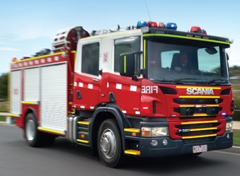Scania P320 4x2 pumper fire engine truck review