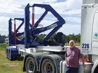 Hammar Australia shows off electric 160S sideloader